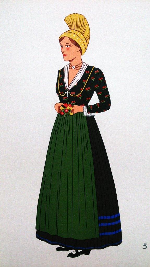 Costume de Femme du Waldviertel, Basse-Autriche (Woman from Waldviertel, Lower Austria)